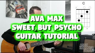 How to Play Ava Max - Sweet but Psycho Guitar Lesson