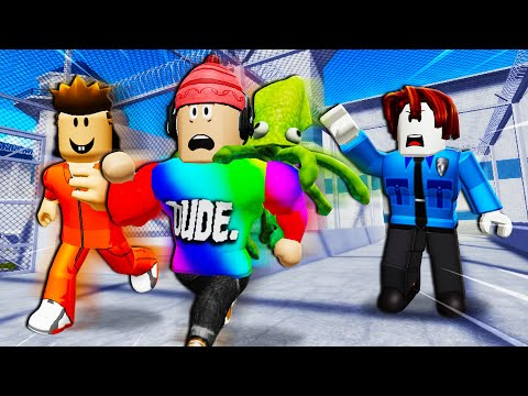 Escaping The Noob Prison! (Arrested By A Noob Part 2: A Roblox Movie)