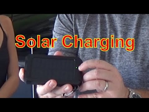 Review || Solar Powered 10000mAh USB Charger, Life Resistance