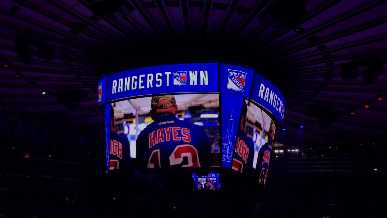 New York Rangers 2017-2018 Intro (vs. Vegas Golden Knights ...
