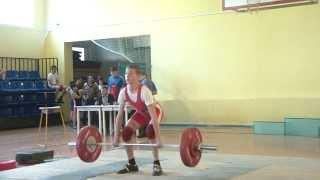 Тяжёлая атлетика. Потёмкин Вадим, 15 лет, вк 50. Толчок 75 кг