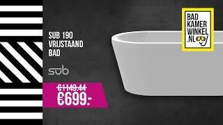 Badkamerwinkel – diepspoelcloset/zitting €399,- & vrijstaand bad €699,-