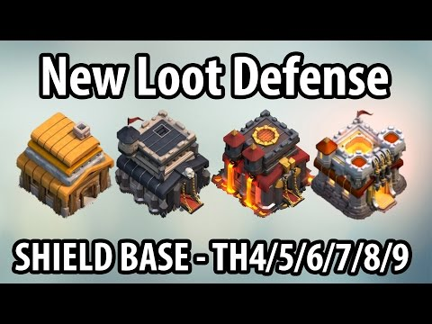 Clash of Clans Loot Defense Strategy for Every Town Hall New Shield Base for Farming TH 4/5/6/7/8/9