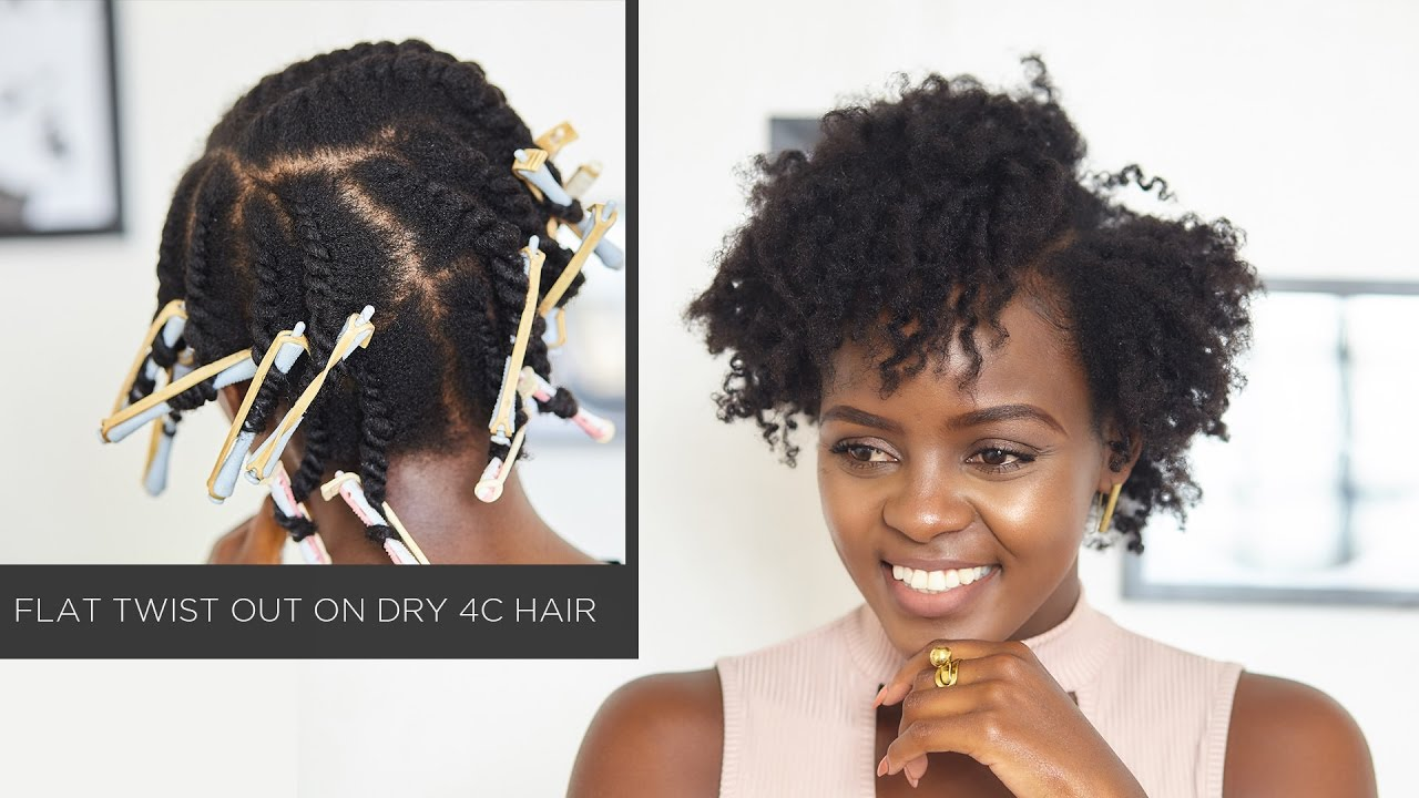natural hair defined flat twist