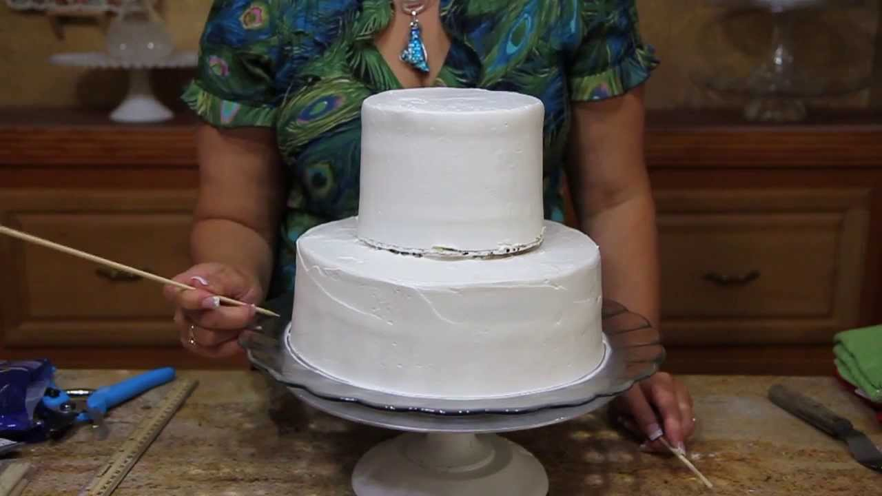 How To Make A Wedding Cake Base Cake Decorating Youtube