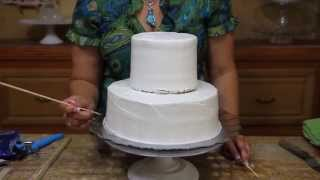 How To Make A Wedding Cake Base- Two Tier Cake - Cake Decorating
