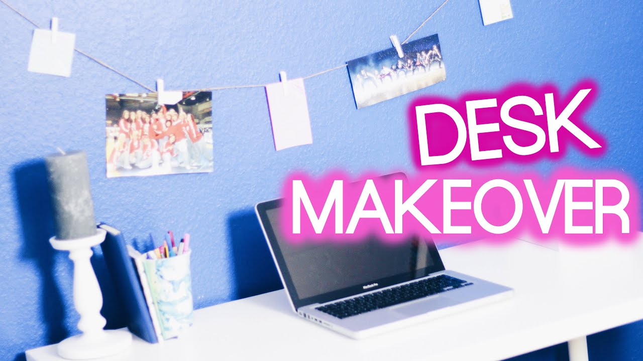 DESK MAKEOVER - DIY Organisation & Dekoration I Maren Vivien - YouTube