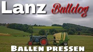 Lanz Bulldog Rundballen Pressen [D6516]