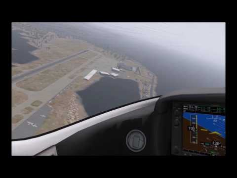X-Plane 11 Beta - Cirrus SF-50 over Key West in stormy weather