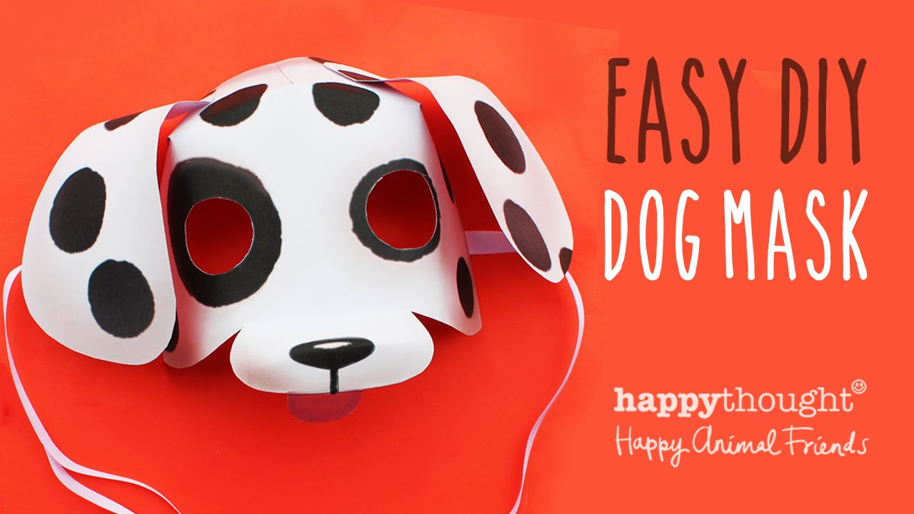 Bright image in dog mask printable