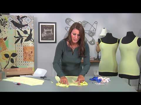 DIY Learn How To Design & Sew A Knit Adjustable Straps Cami Tank Top
