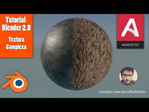 Tutorial Blender 2.8 -  Como Criar Material Complexo Para O Armory 3D E Outros Projetos.