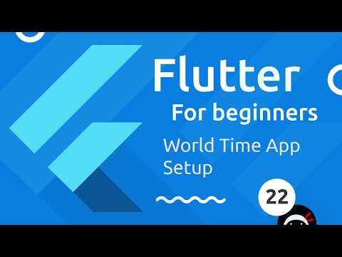 Flutter Tutorial for Beginners #22 - Starting the World Time App