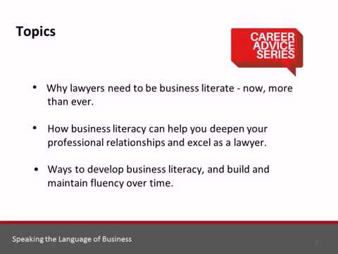 Career Advice Series: Speaking the Language of Business