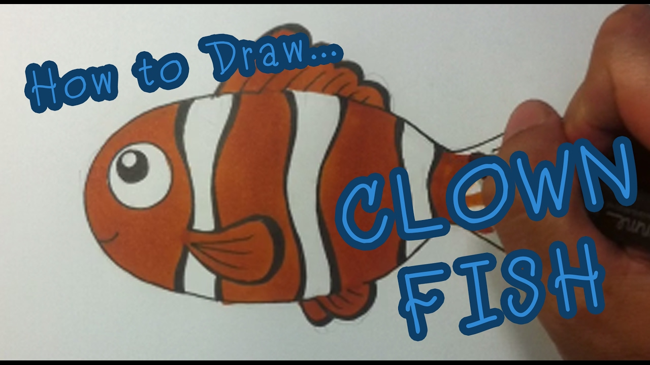 how to drawing for kid clownfish youtube