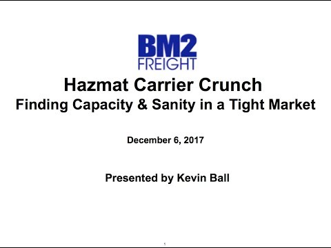 Hazmat Carrier Crunch: Finding Capacity & Sanity in a Tight Market