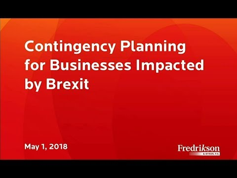 Contingency Planning for Businesses Impacted by Brexit