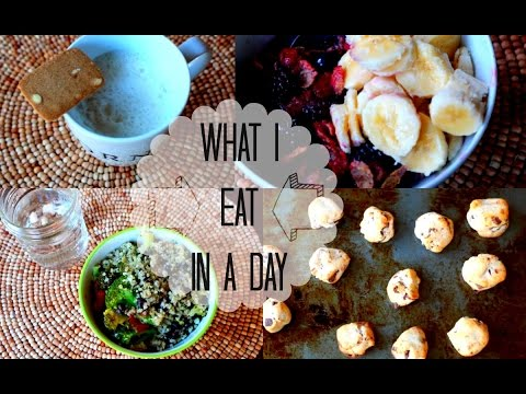What I Eat In a Day! Healthy Vegetarian Food Ideas!