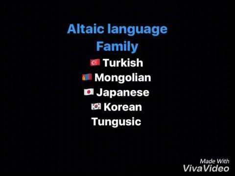 Altaic Language Family