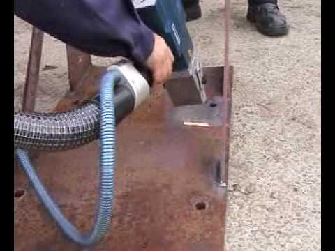 Rust Removal using a Laser non-Contact Hand-held Instrument