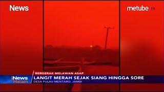 Viral Langit Merah Sejak Pagi Hingga Sore Di Desa Pulau Mentaro Jambi - Inews Malam 2109
