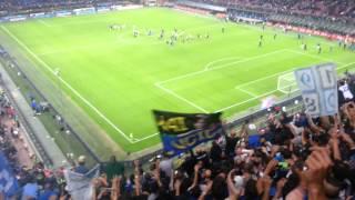 Inter-Milan 1-0 festa in Curva Nord 13-9-2015