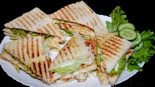 Chicken Sandwich Recipe - BBQ Chicken Club Sandwich
