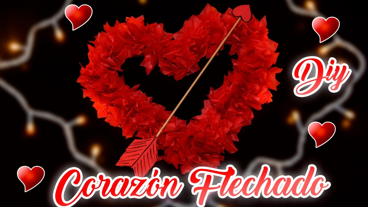 Corazon Flechado De Papel China Decoracion Especial San Valentin