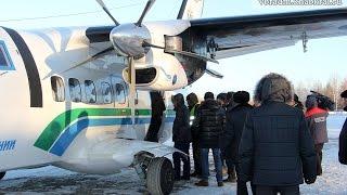 Первый технический авиарейс «Хабаровск-Чегдомын» (27.12.16)