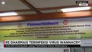 Rumah Sakit Dharmais masih mematikan sistem komputer yang terhubung ke jaringan internet. Meski keru.