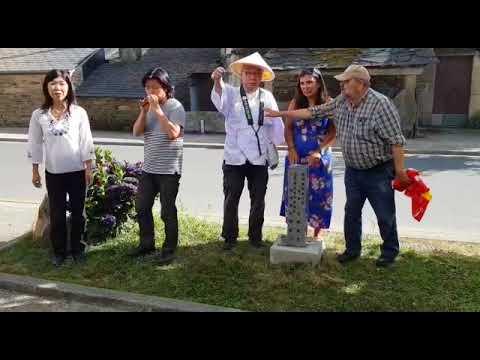 La Asociación de Amigos del Camino de Shikoku Henro regalan un monolito a Sarria