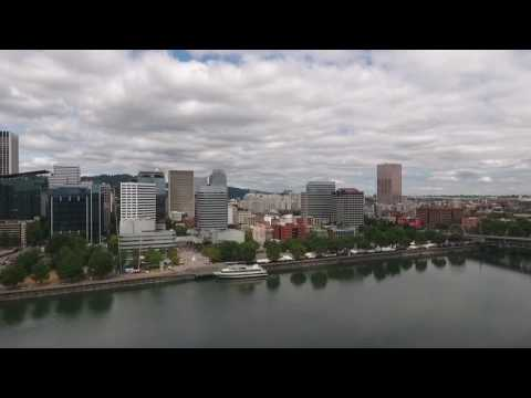 Waterfront, Portland Oregon by drone