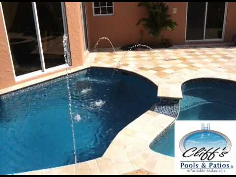 Swimming Pool Water Features - Deck Jets & Sheer Descents