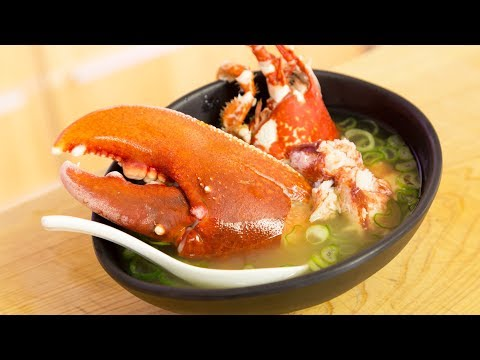 EXTREMELY GRAPHIC: Live Lobster Miso Soup