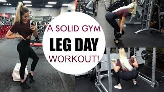 FULL GYM LEG DAY WORKOUT! | Build and Define your lower body