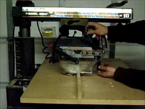 Radial Arm Saw Recall for Craftsman - YouTube