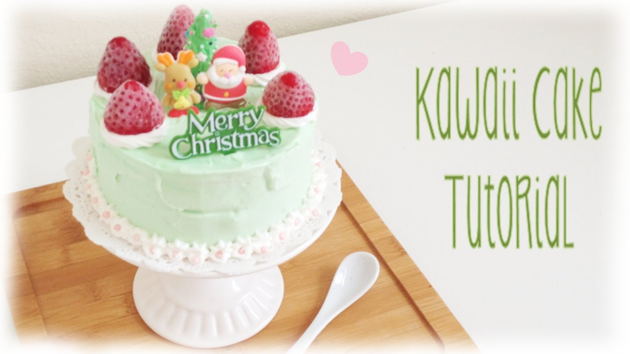 Mini Personal Kawaii Cake Tutorial DIY Christmas Birthday YouTube