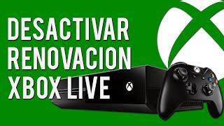 Cómo cancelar o desactivar la renovación automática de Xbox Live Gold