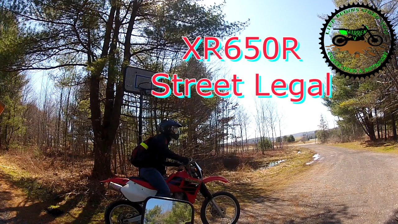 Honda XR650R Street Legal & Dr650 Ride