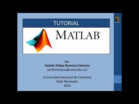 Tutorial 1 de MATLAB en español - Introducción 1/2