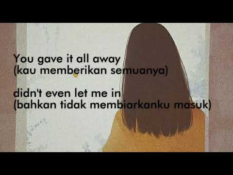 This Is What A Broken Heart Feels Like - Marina Lin (Terjemahan Indonesia)|Lyrics #sadsongs