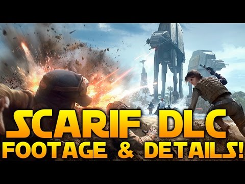 Star Wars Battlefront Rogue One Scarif DLC: First Footage, Jyn, Krennic, TIE Striker, U Wing & More!