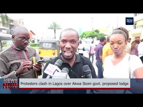 Protesters clash in Lagos over Akwa Ibom govt.  proposed lodge