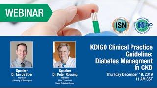 KDIGO Diabetes Management in CKD Guideline Webinar
