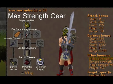 Oldschool Runescape Best Offensive Gear