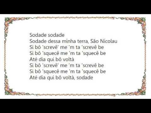 Cesária Évora - Sodade Lyrics