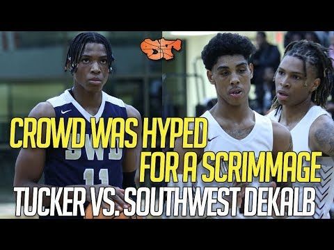 CROWD WAS HYPED FOR A SCRIMMAGE !!! | TUCKER Vs. SOUTHWEST DEKALB HIGHLIGHTS