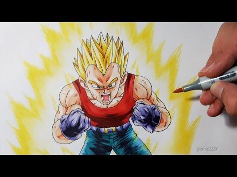 Drawing Vegeta Super Saiyan Dragon Ball Gt Youtube