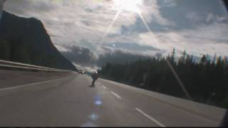 highway longboard crash 80 kph
