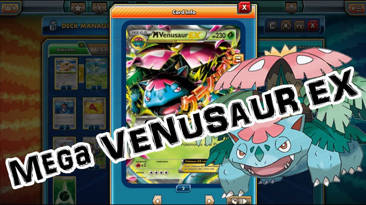 mega venusaur ex   pokemon trading card game online